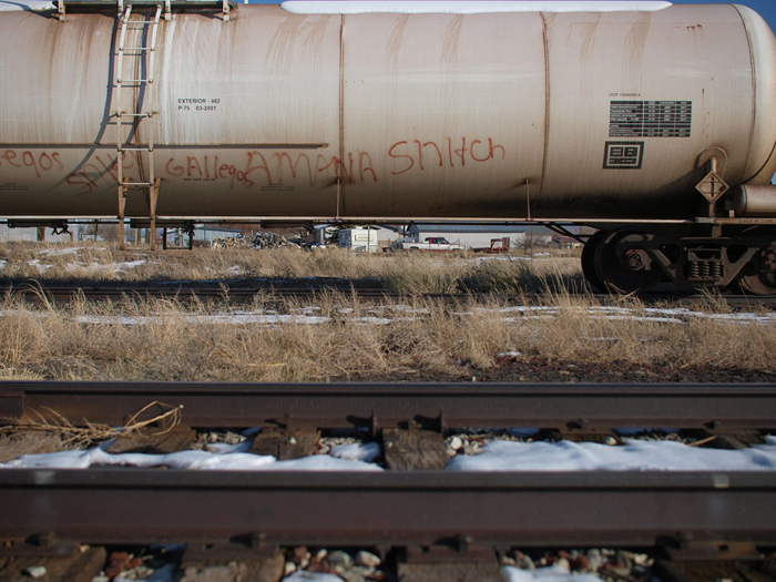 Snitch tag and railroad tracks