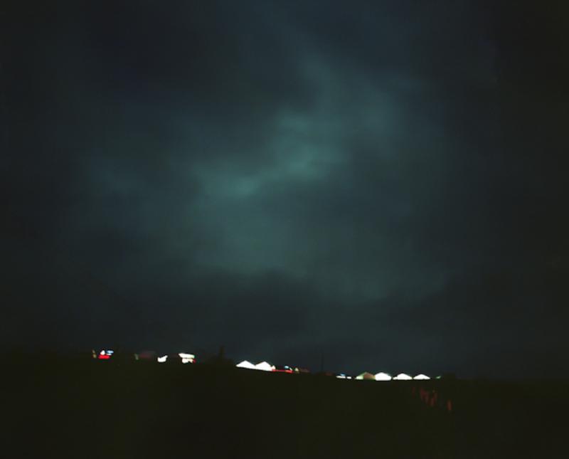 Celebration Tents at Night, Lhagang