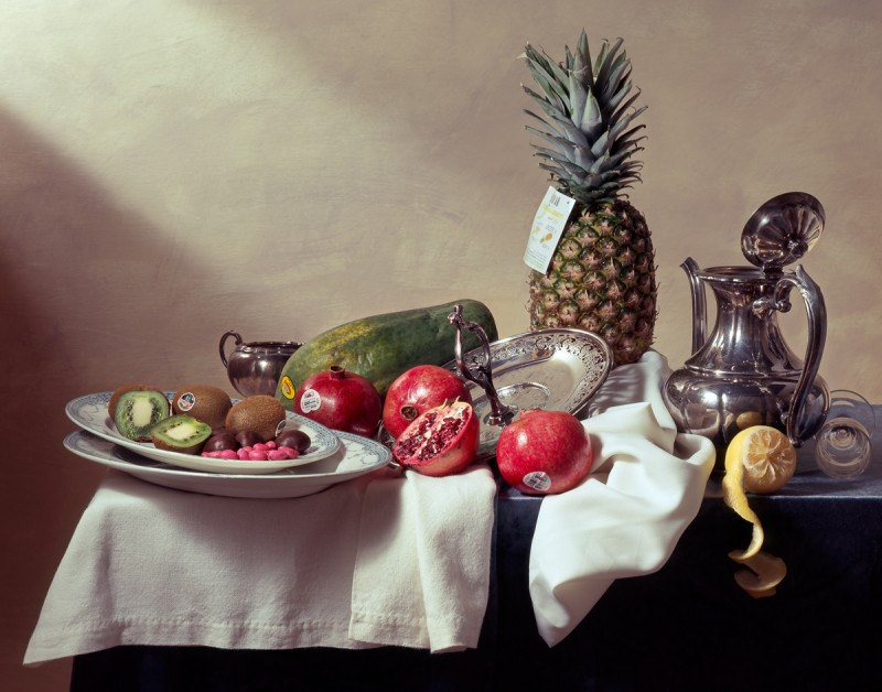 Andrzej Maciejewski (Ontario, Canada)  Still Life with 4030(New Zealand), 4927(Italy), 4940(USA), 3127(Mexico), 4433(Panama) and 4958(Mexico)  From the series Garden of Eden