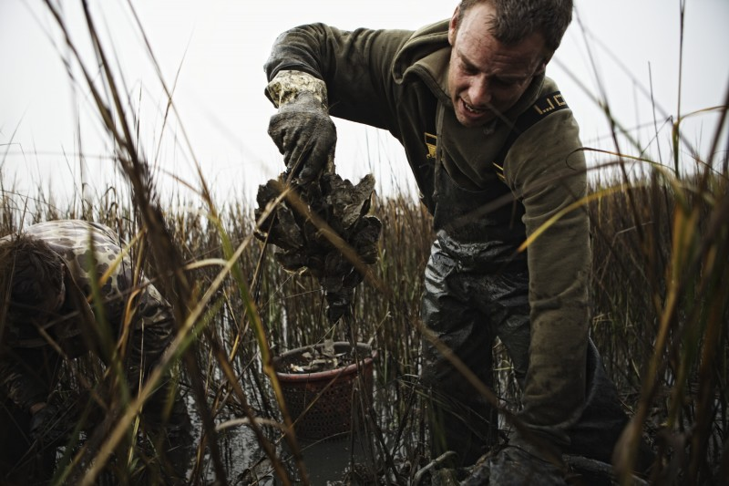 Jody Horton (Austin, TX)  Oyster Picking 2, 2013  From the series Oyster Picking