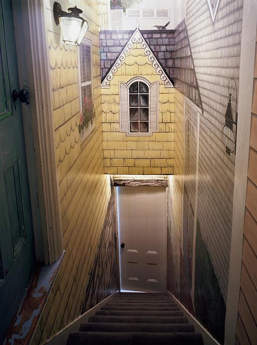 Untitled Interior (house stairway)
