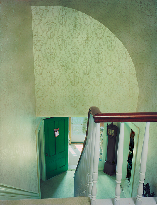 Untitled Interior (green stairwell)
