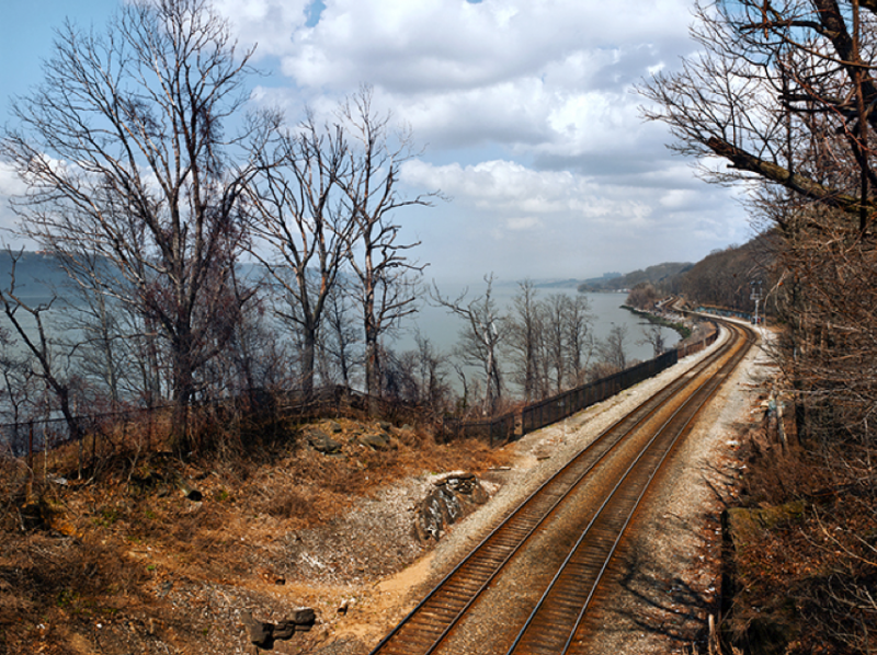 Blasted Away for the Rails Along the Hudson River, Manhattan, NY, 2012