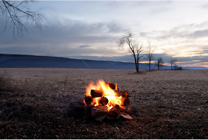 Bonfire on the Hedgerow  by Jordan Baumgarten