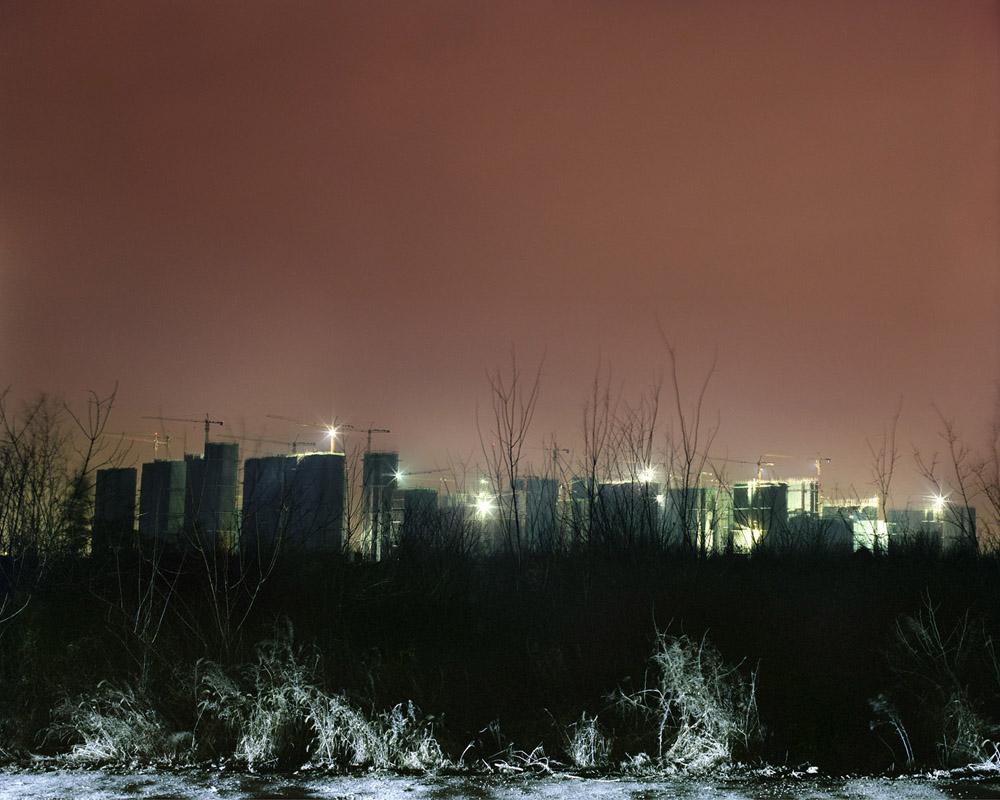 City Suburb in the Dark