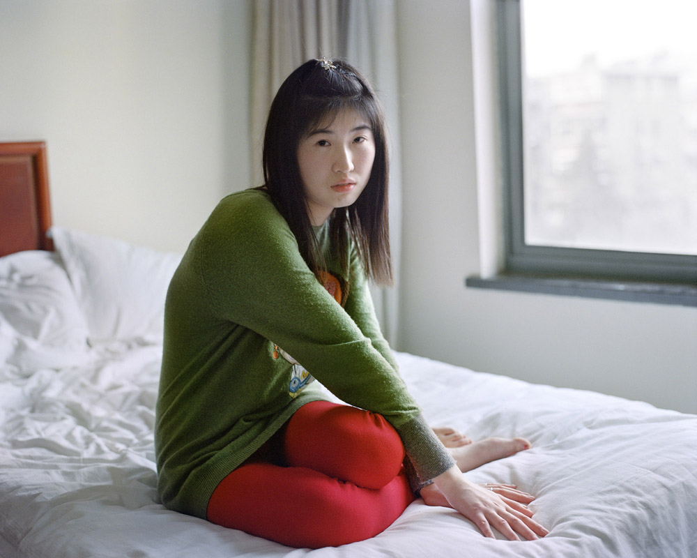 Girl in Red and Green