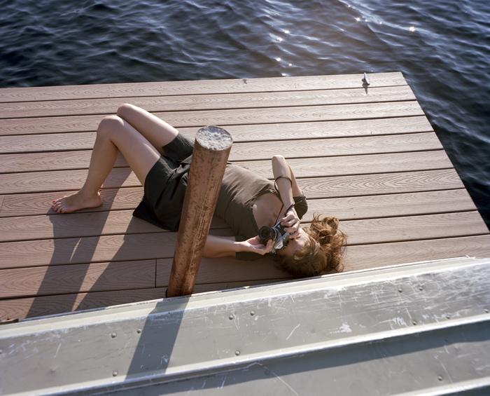 Looking at looking, Lake Lacawac, Pennsylvania by Michael Itkoff