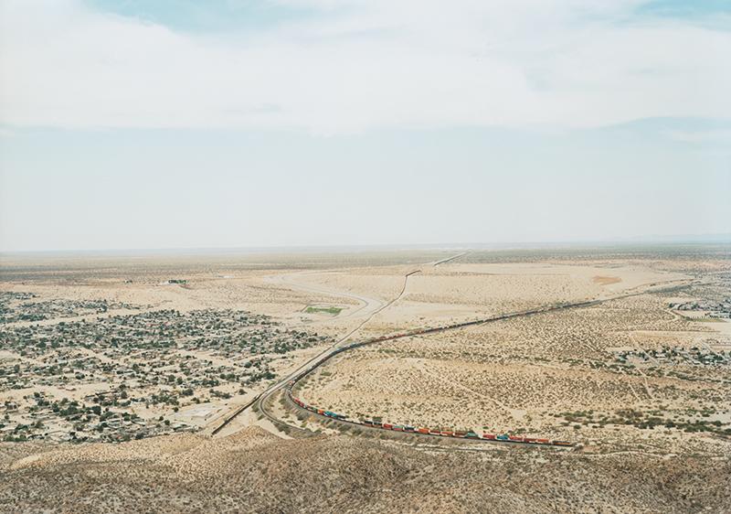 Untitled (Train Skirting Border) Sunland Park, New Mexico 2012
