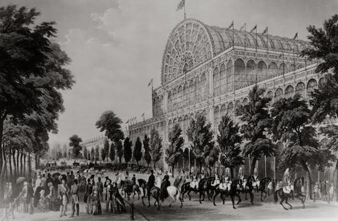 Crystal Palace, built to house London's Great Exhibition of 1851, lithograph©Science Photo Library/ Contrasto