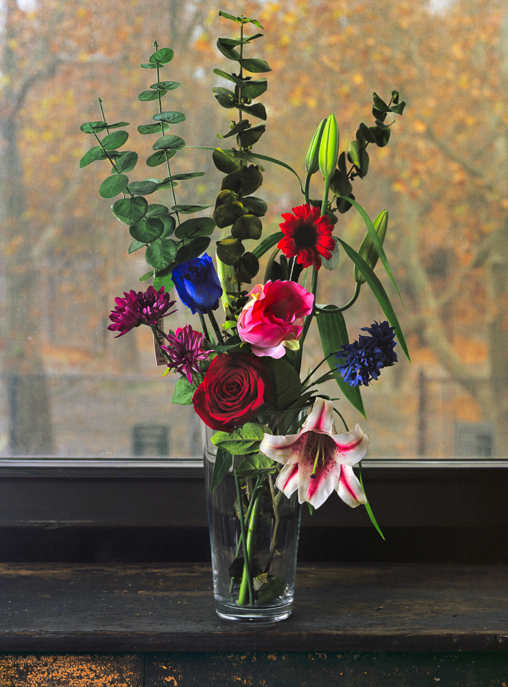 Still Life with Real, Fake, and Dyed Flowers, 2010