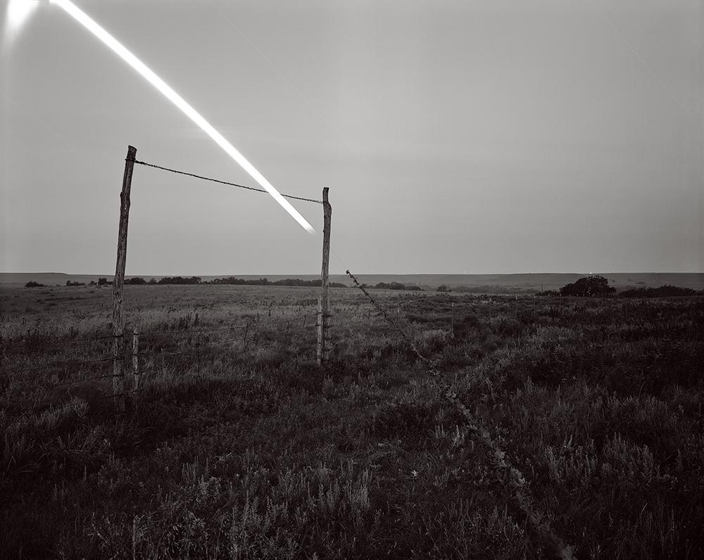 Ironweed Moonset, Flying W Ranch, Kansas
