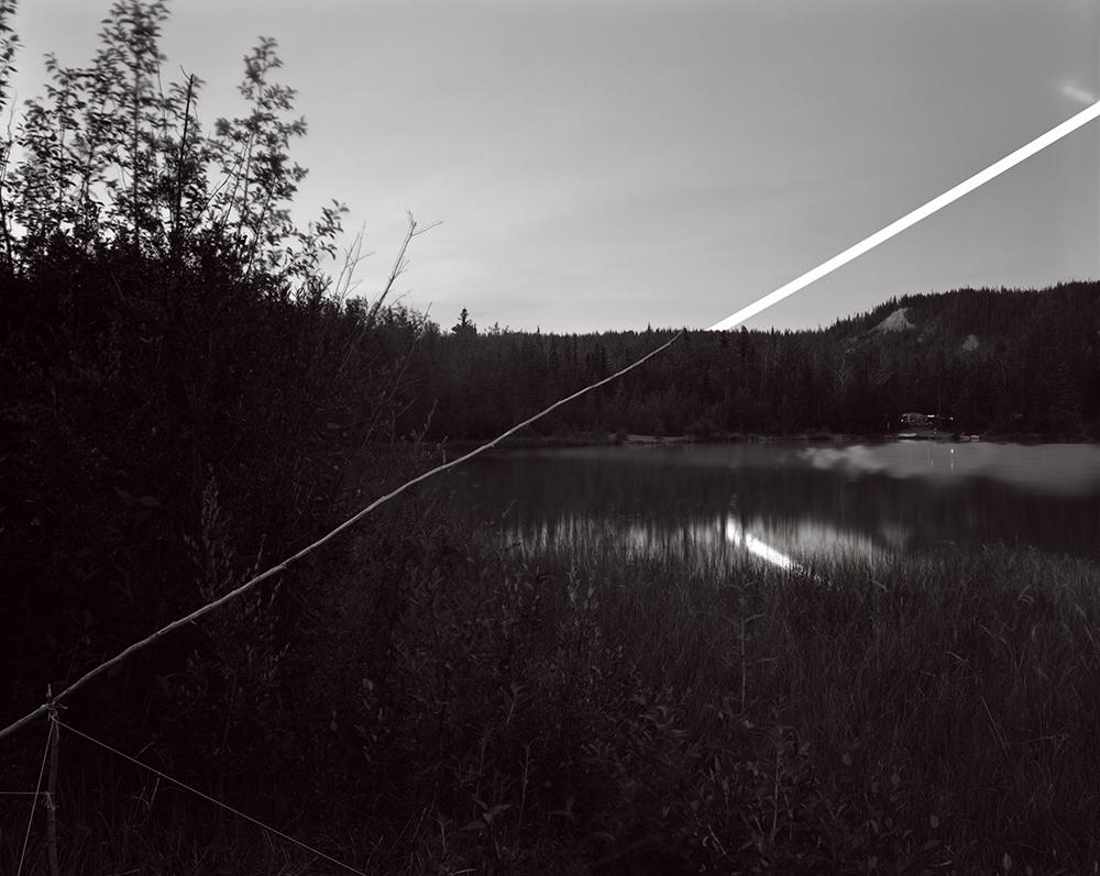 Sapling Moonrise, Squirrel Creek, Alaska