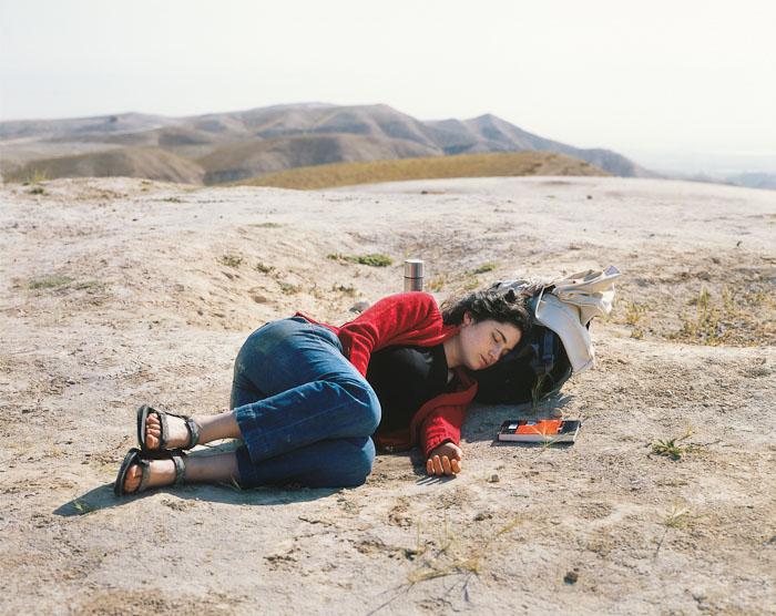 Nili asleep, Nebi Musa, 2010 by Yaakov Israel