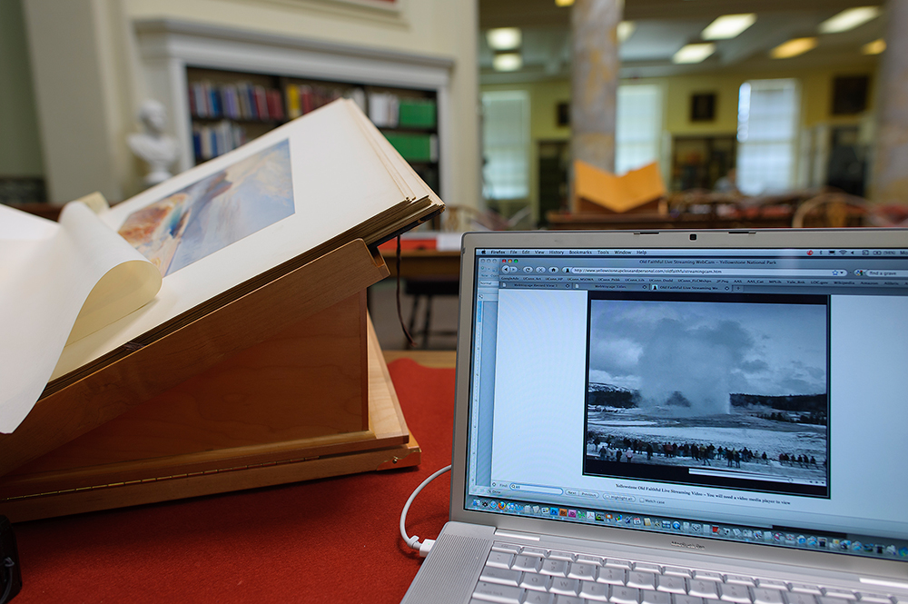 Prang Portfolio, 1876, and Old Faithful Live Web Cam, American Antiquarian Society