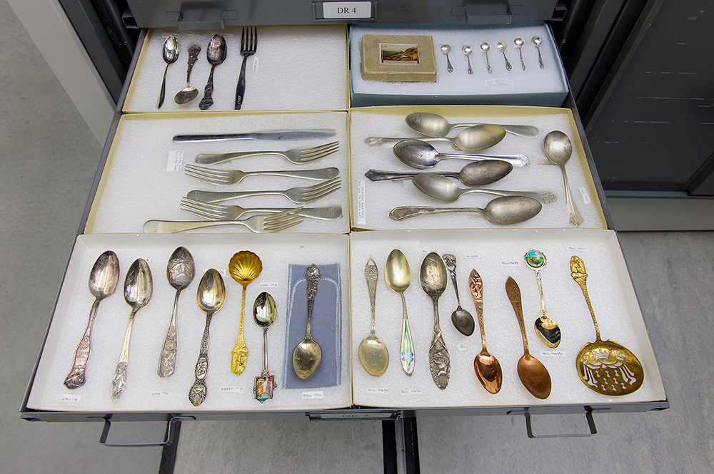 Souvenir Spoon Drawer, YNP Museum