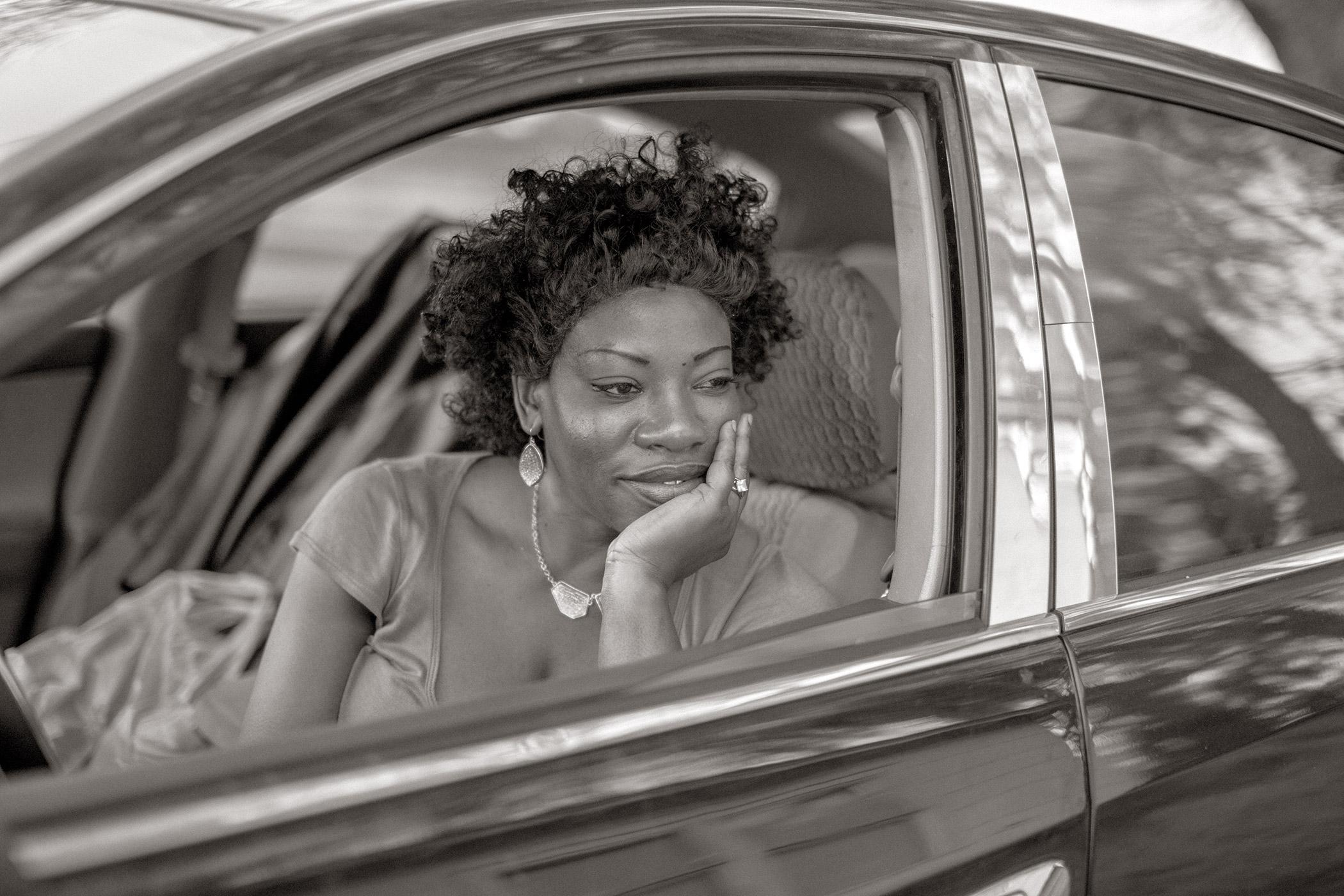 Woman Waiting for Friend, Pinetta, FL