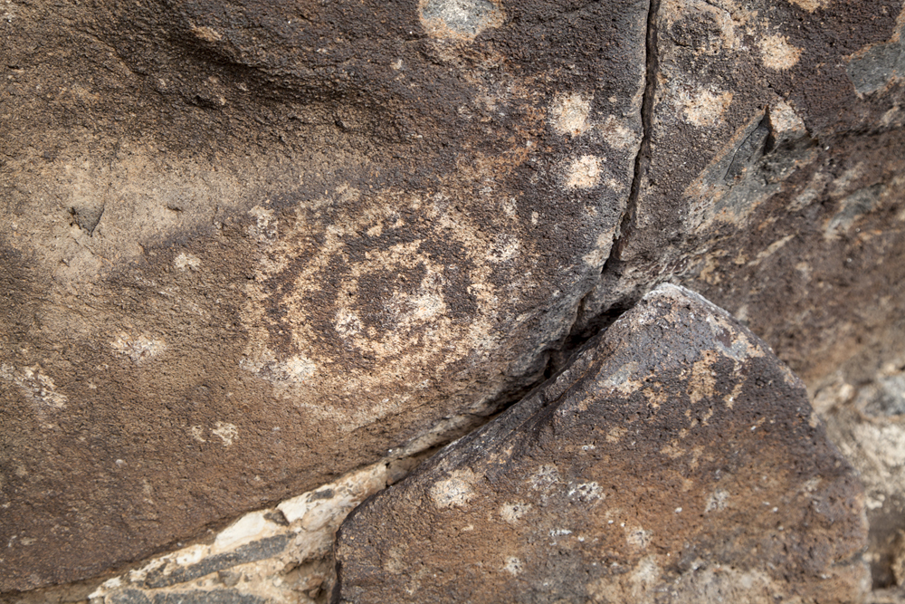 Petroglyph With Signs of Gunfire
