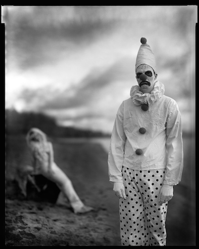Mr. L. Peterson and Ms. C. Fisher, Sauvie Island, 2008 no1. 8x10 inch, silver gelatin contact print. © Jake Shivery