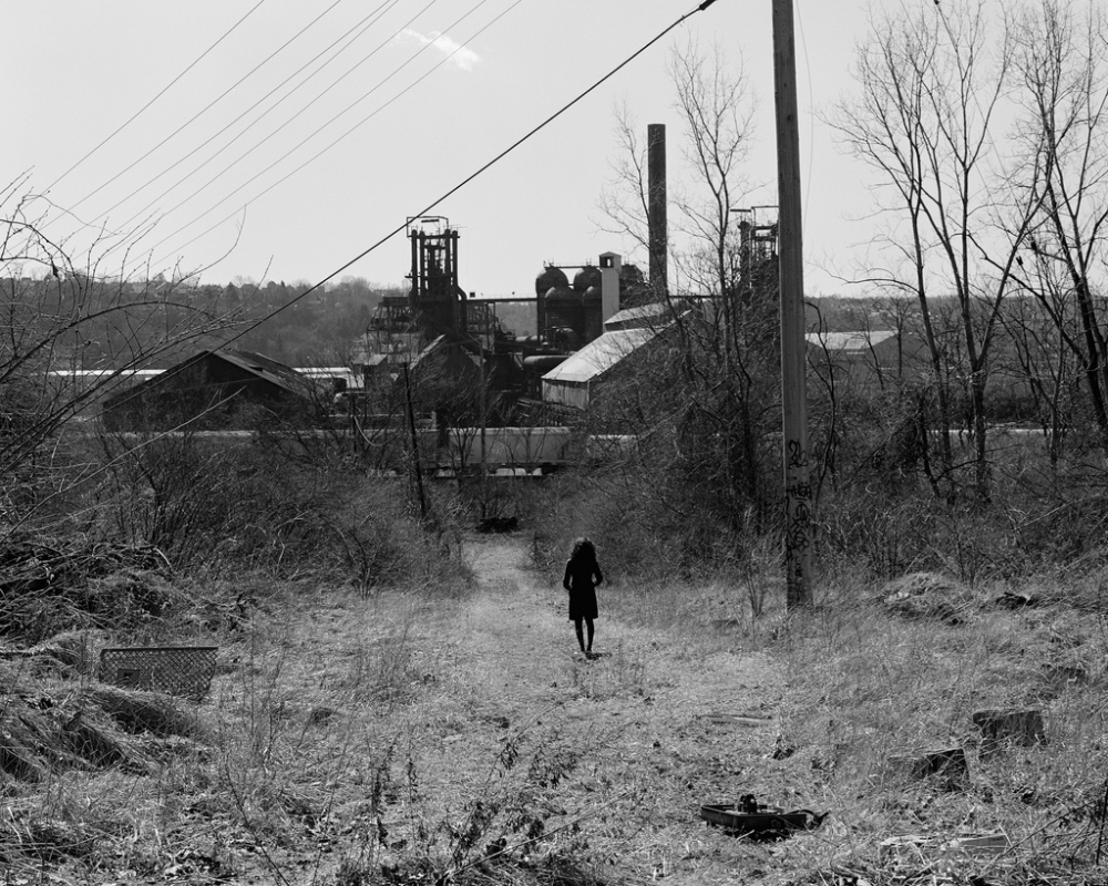Ashley by the Carrie Furnace, Rankin, PA; 2011