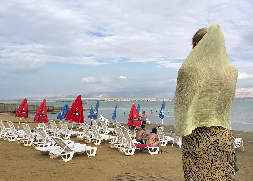 Russian Tourists at Beach Spa, Dead Sea