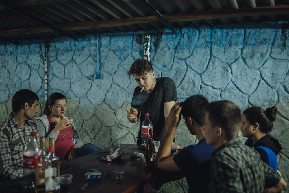 The bar is one of the few places in the village where young people can meet and relax in the evening.