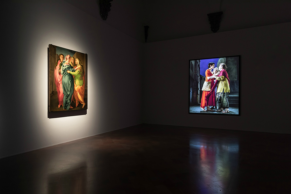 Installation View – The Greeting with Pontormo's Visitation