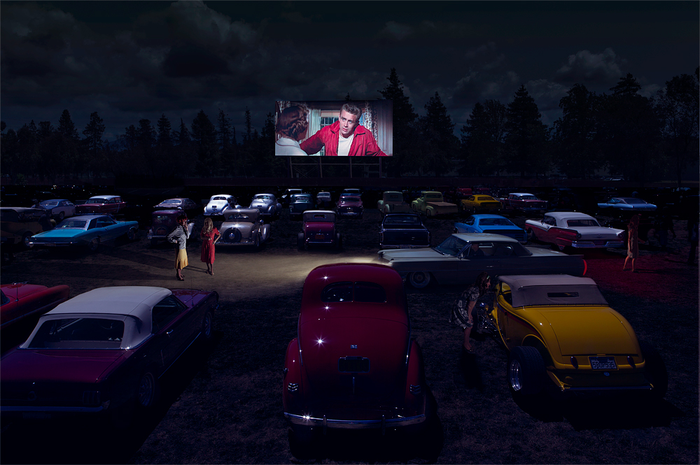 Drive In Theatre - Larkfield-Wikiup, California, USA