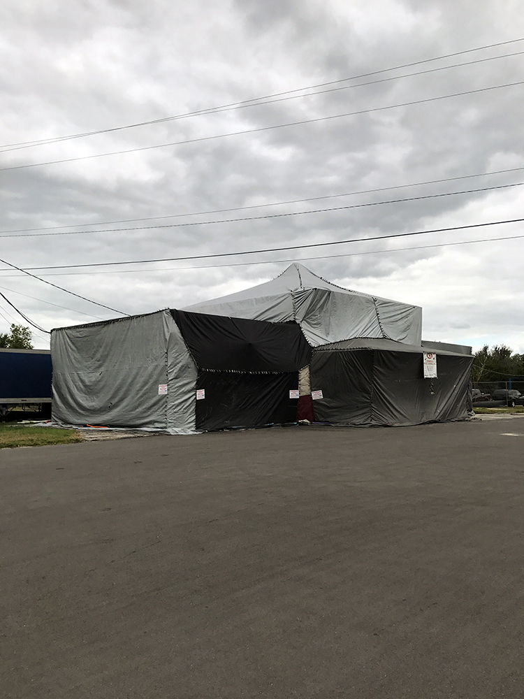 Tented building
