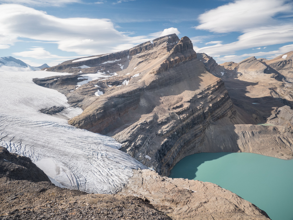 Mount Thompson and Bow Glacier, Banff National Park, Alberta