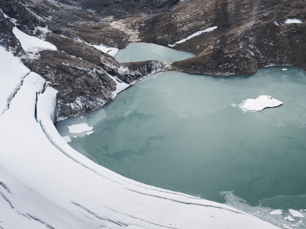 Glacial Lake below Mount Jimmy Simpson, Banff National Park, Alberta