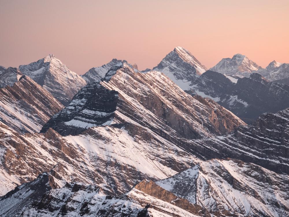 Mount Sparrowhawk Summit View, Kananaskis Country, Alberta