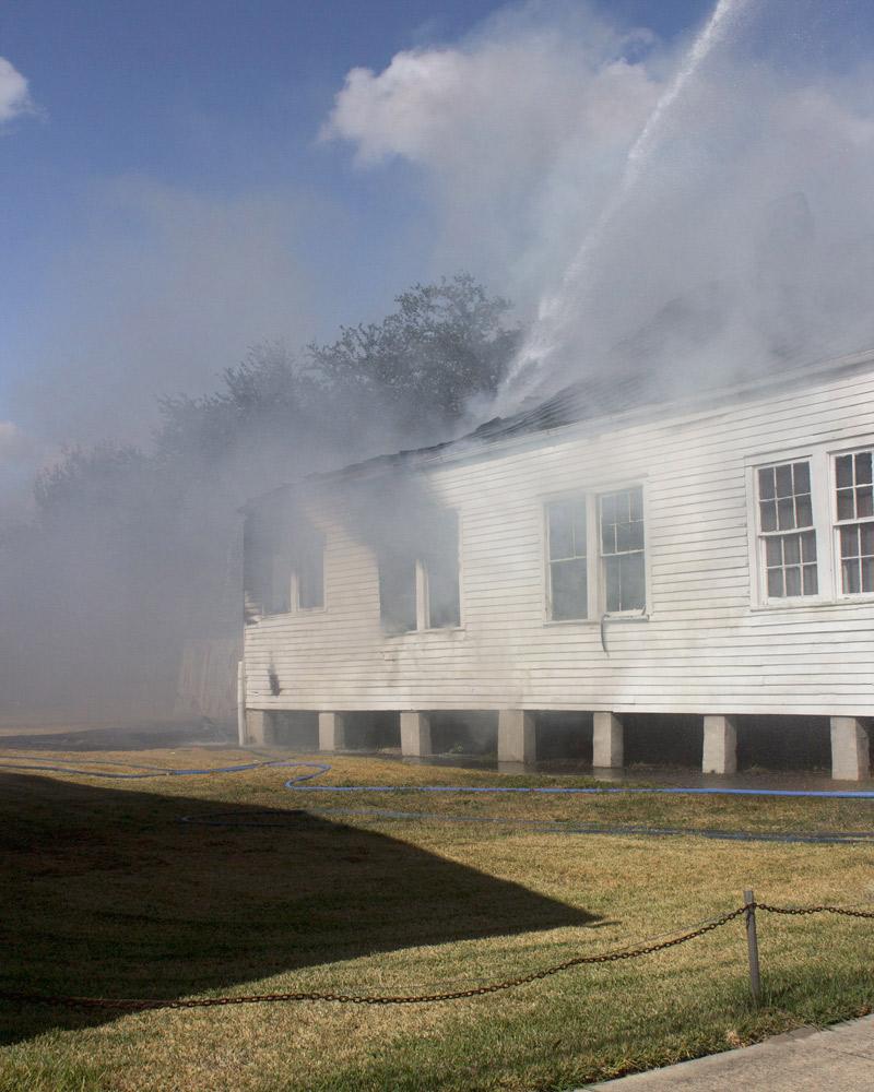 House on fire, New Orleans, Louisiana