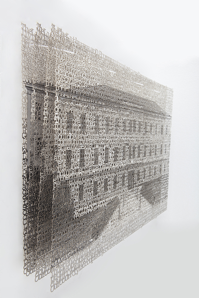 Bayreuth 1, 14x21, layered laser cut pigment prints, 2017