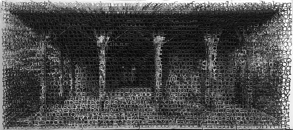 Fischbach 1, 10x21, layered laser cut pigment prints, 2017