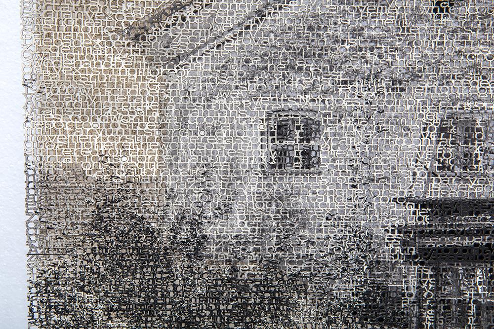 Eichstätt 1 detail, layered laser cut pigment prints, 14x21, 2018