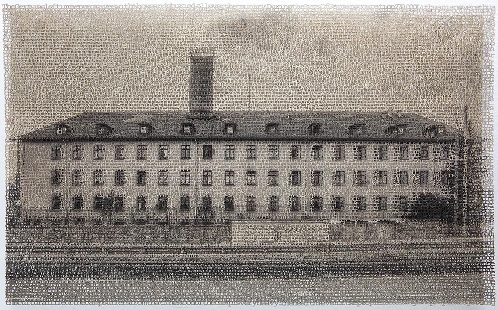 Würzburg 1, layered laser cut pigment prints, 13x21, 2018