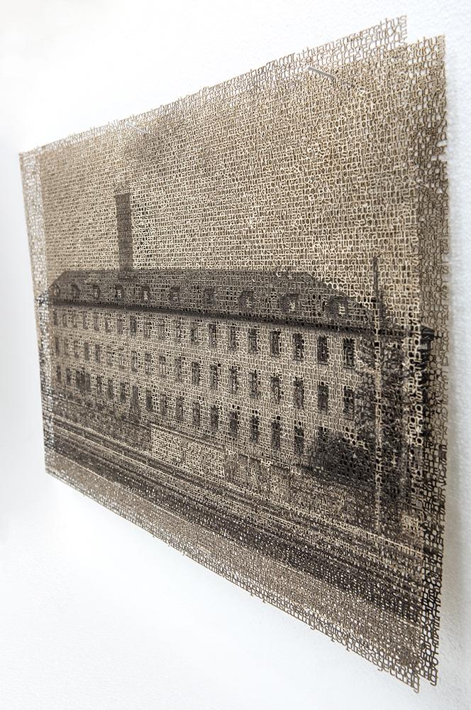 Würzburg 1 detail, layered laser cut pigment prints, 13x21, 2018