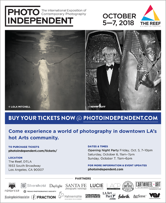 Check out all of the amazing event's at Photo Independent, October 5 – 7 in LA