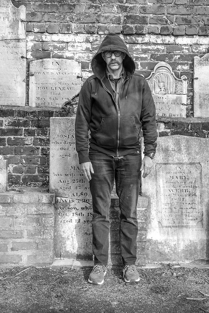 Neil in a Graveyard, Savannah, GA
