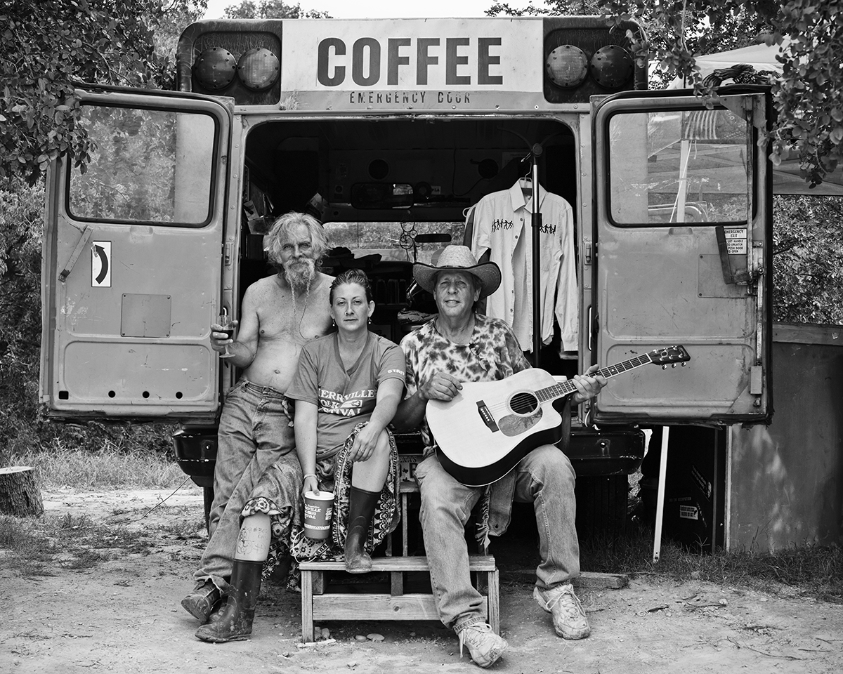 Happy Jack and friends at His Coffee Bus