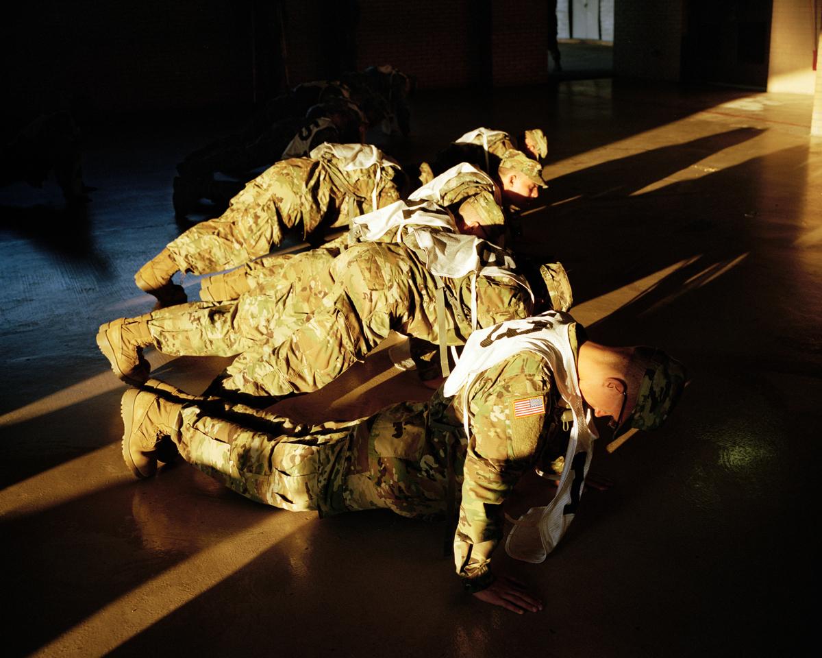 Push-ups, Basic Combat Training, Fort Sill, Oklahoma, 2017