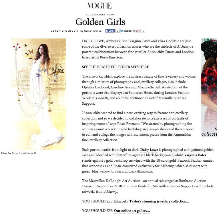 Golden Girls, VOGUE