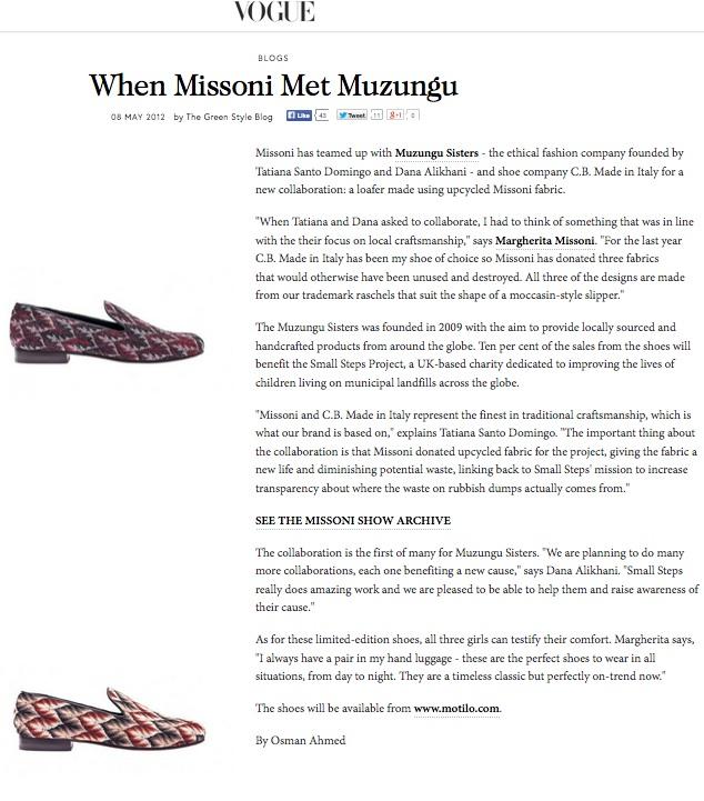 When Missoni Met Muzungu, VOGUE