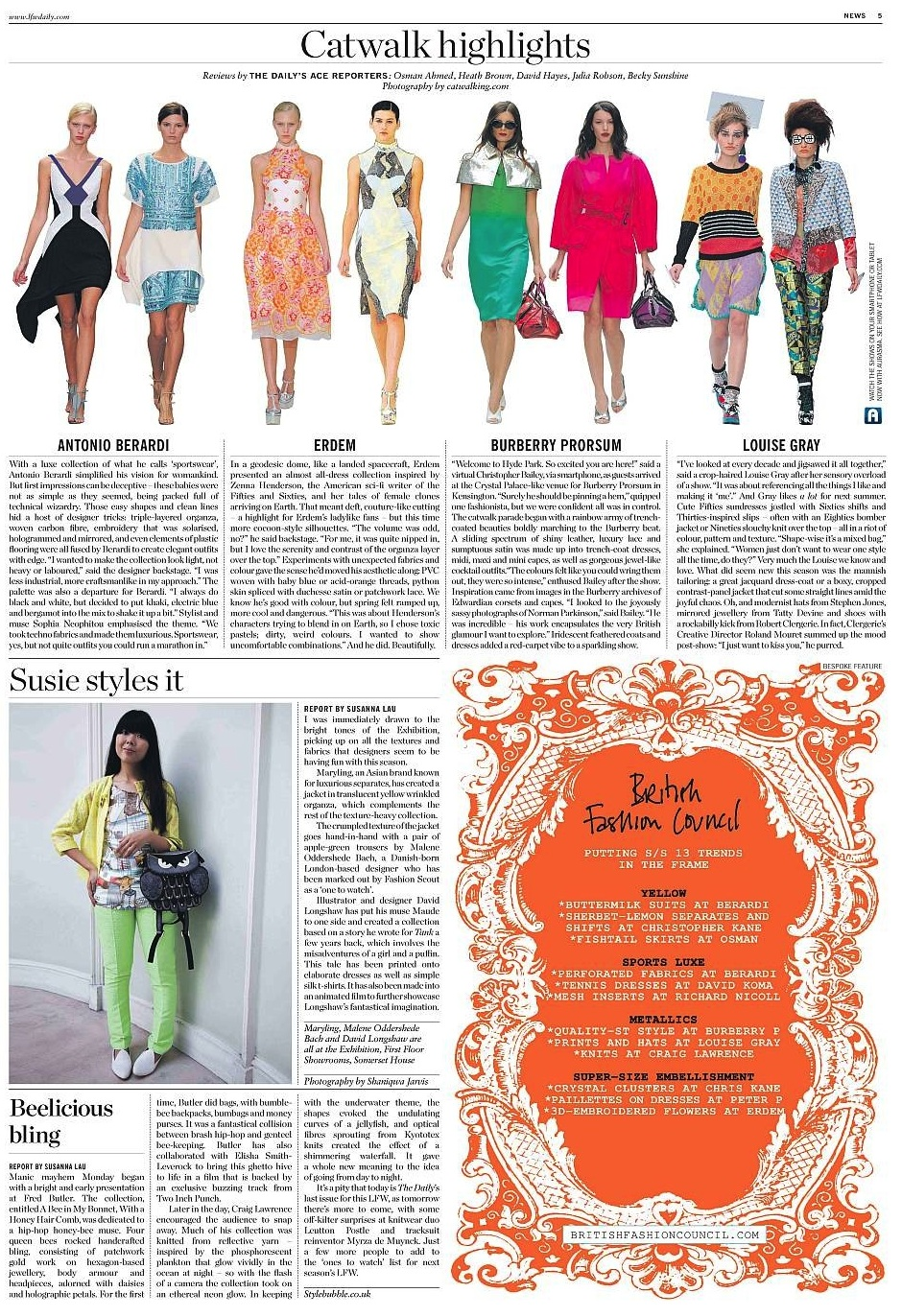 Catwalk Highlights, LFW The Daily