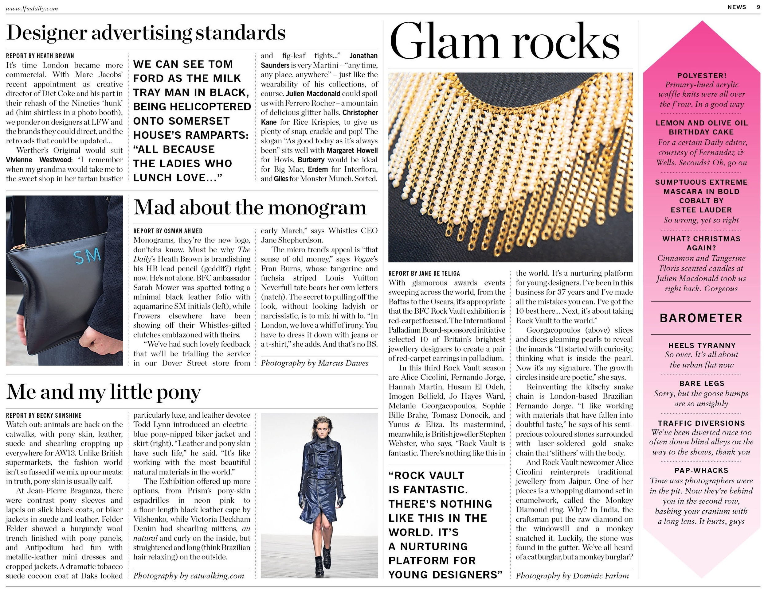 Mad About the Monogram, LFW The Daily