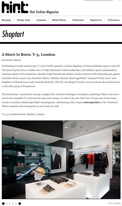 A Store Is Born: Y-3 London
