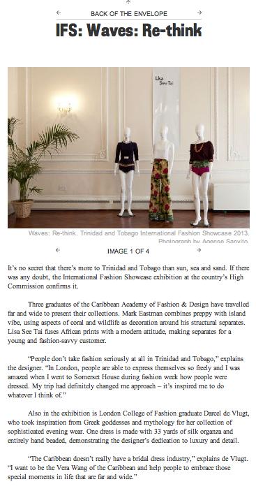 Trinidad & Tobago, British Council's IFS