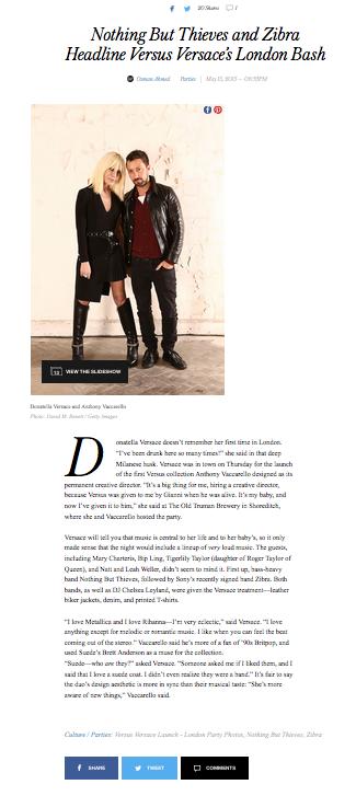 Donatella Versace and Anthony Vaccarello, Style.com