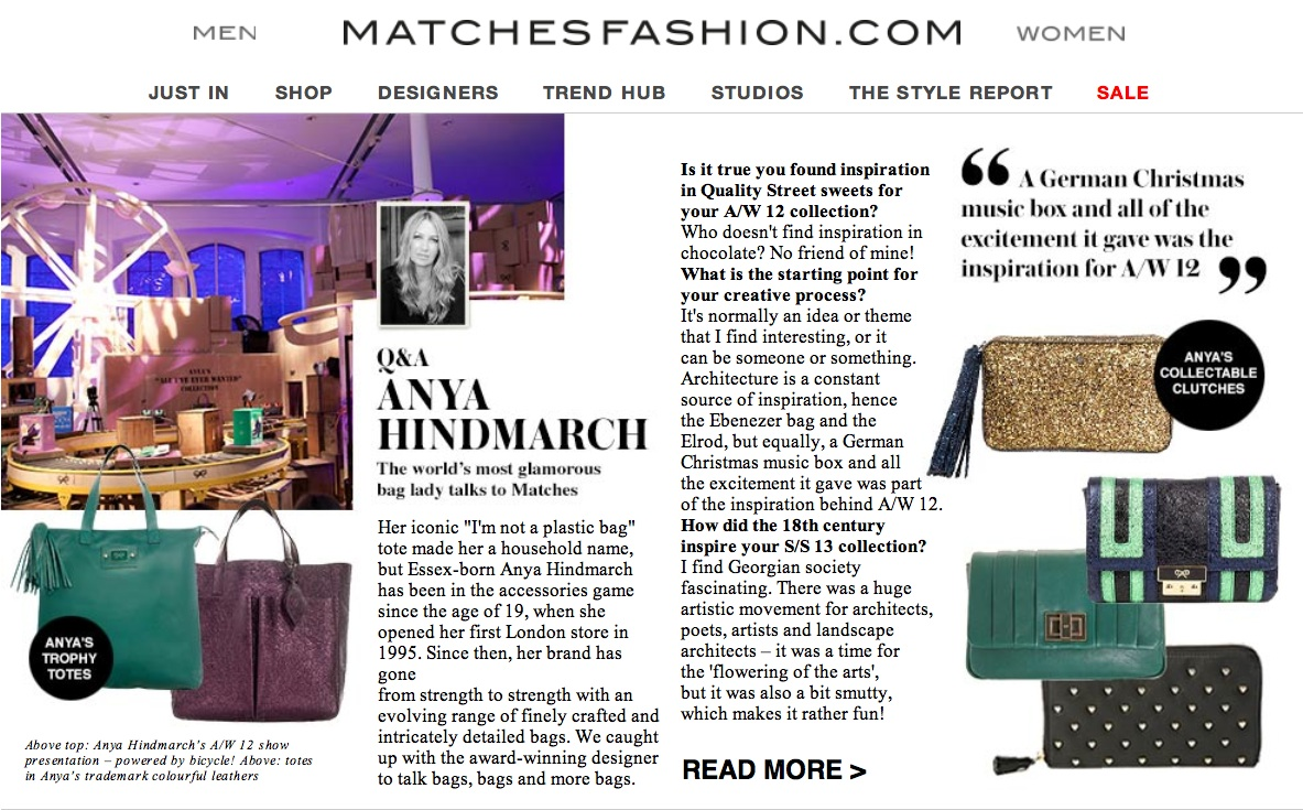 Anya Hindmarch, MatchesFashion.com