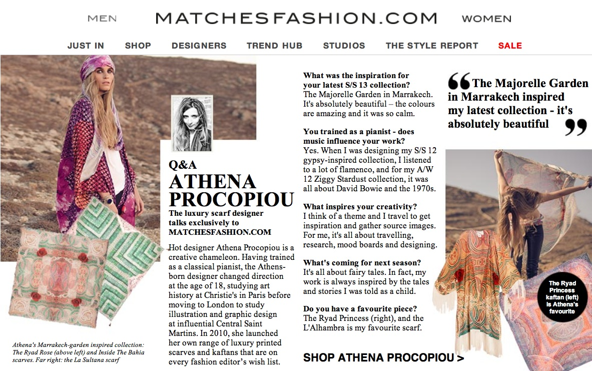 Athena Procopiou, MatchesFashion.com